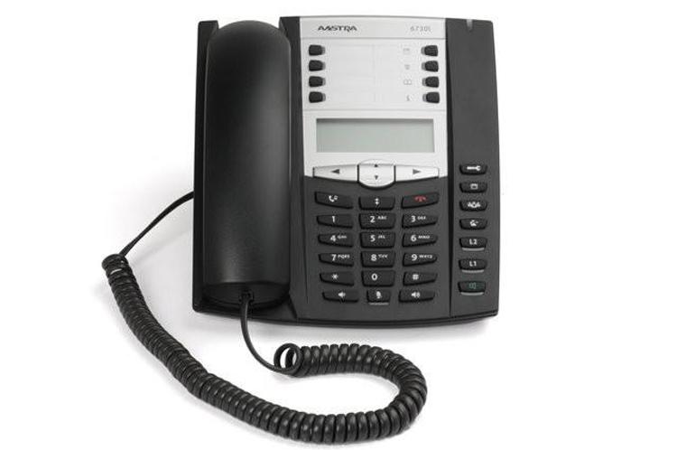 نمای روبرو Aastra 6730i IP Phone