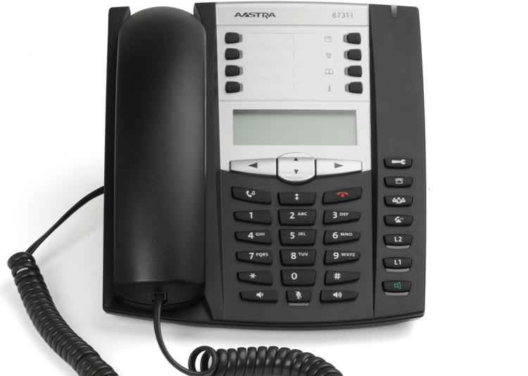 نمای روبرو Aastra 6731i IP Phone