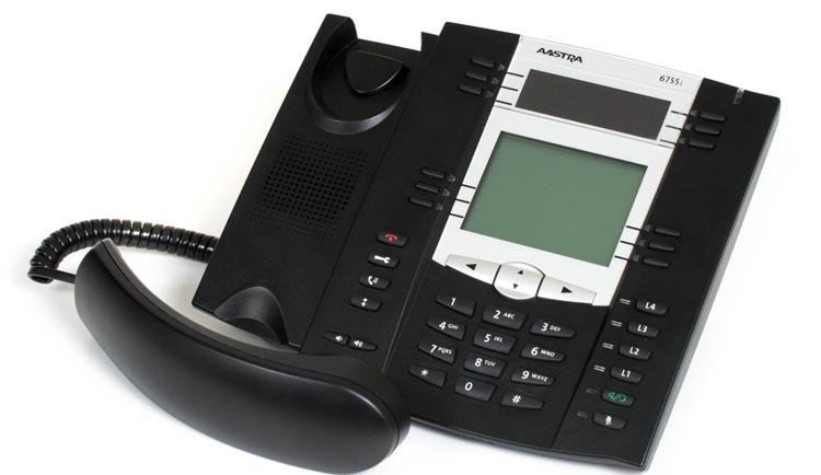 نمای بغل Aastra 6755i IP Phone