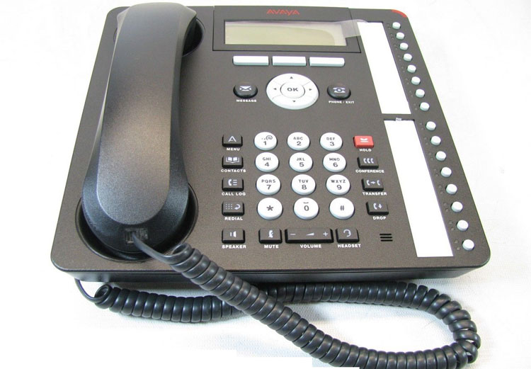نمای پایین روبرو Avaya 1616 IP Phone
