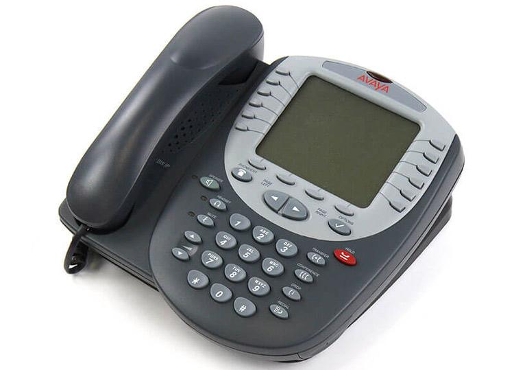 نمای بغل و بالا سمت چپ Avaya 4621SW IP Phone