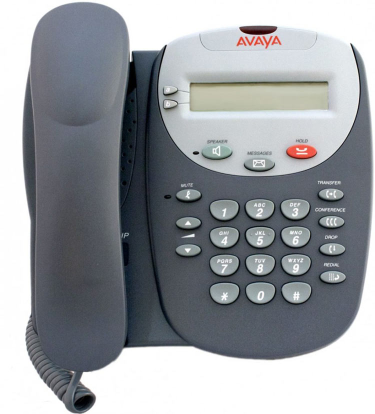 نمای روبرو Avaya 5602sw IP Phone