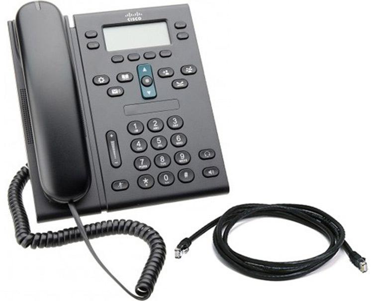 نمای سمت راست Cisco 6941 IP Phone