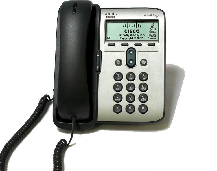 نمای روبرو Cisco 7911G IP Phone