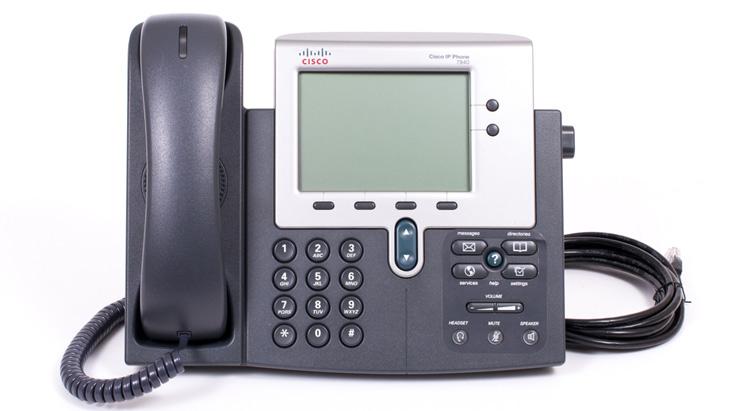 نمای روبرو Cisco 7940G IP Phone