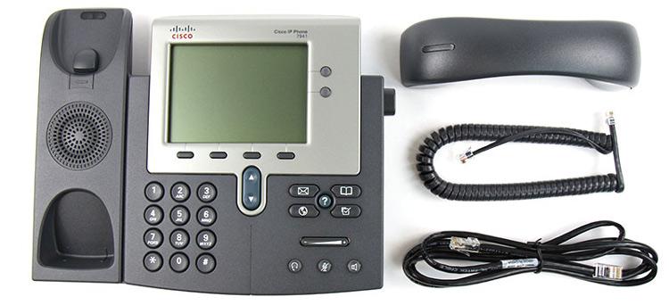 همراه با قطعات و سیم ها Cisco 7941G IP PHONE