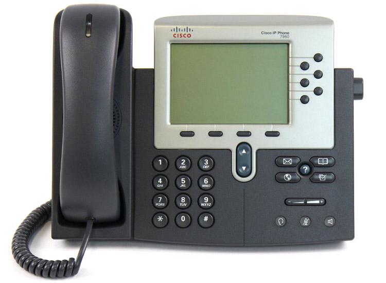 نمای روبرو Cisco 7960G IP Phone