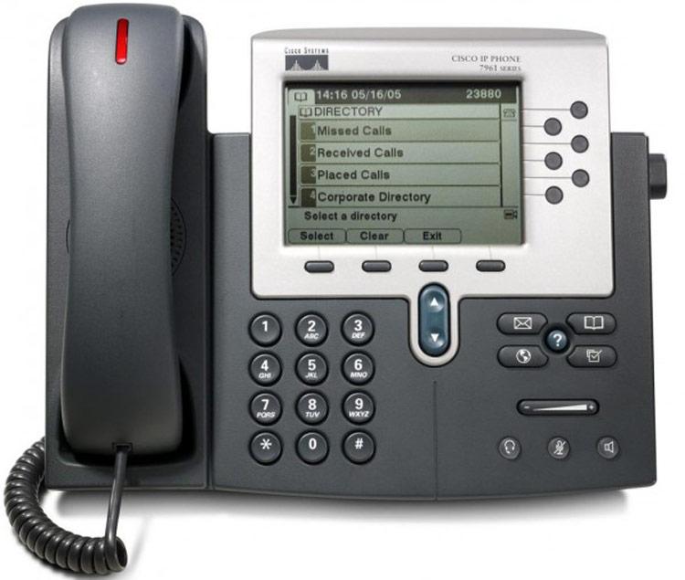 نمای روبرو Cisco 7961G IP PHONE