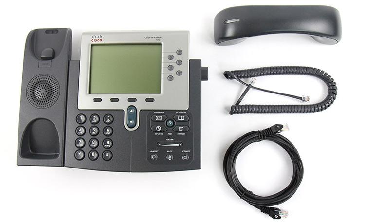 تصویر جلو بدون گوشی Cisco 7961G IP PHONE