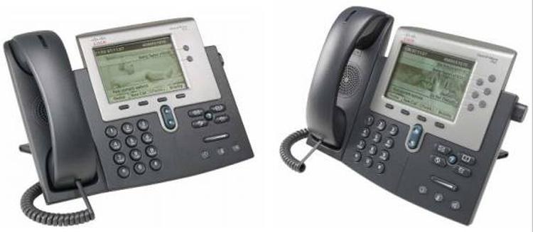 دو نمای متفاوت Cisco 7962G IP PHONE
