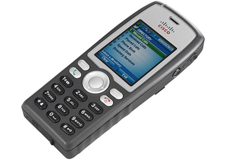 نمای بغل Cisco Unified Wireless IP Phone 7925G