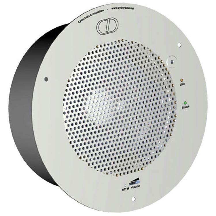 نمای بغل  Cyberdata VoIP Ceiling Speaker V2