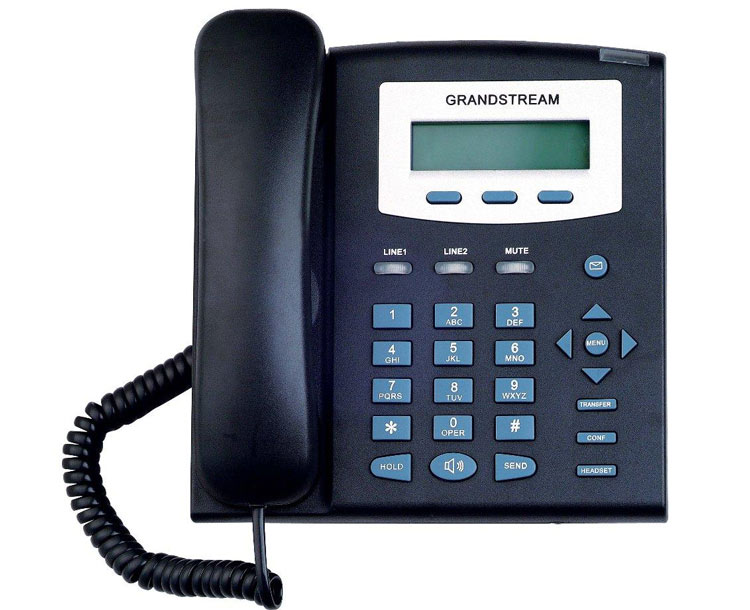 نمای روبرو Grandstream GXP1200 IP Phone