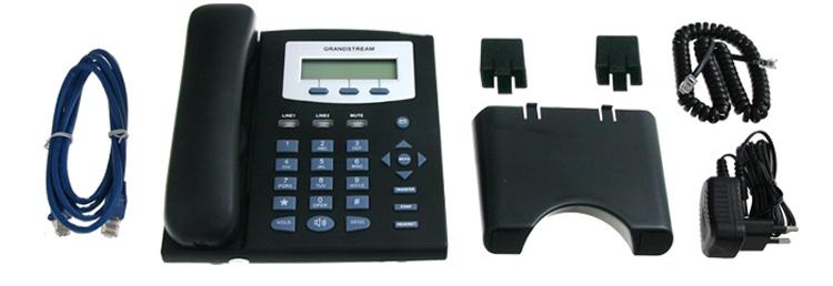 همراه سیم ها و شارژر Grandstream GXP1200 IP Phone