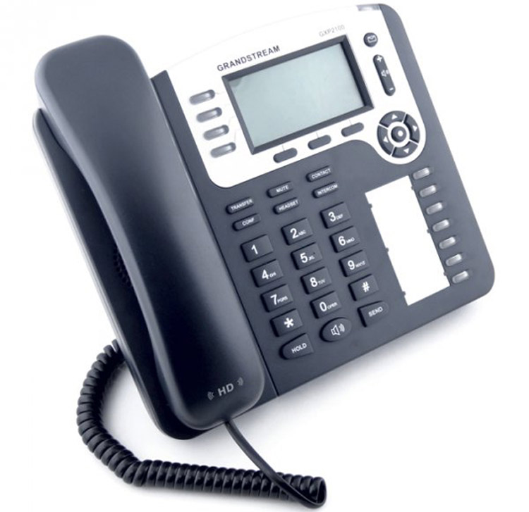نمای جانبی Grandstream GXP2100 ip phone