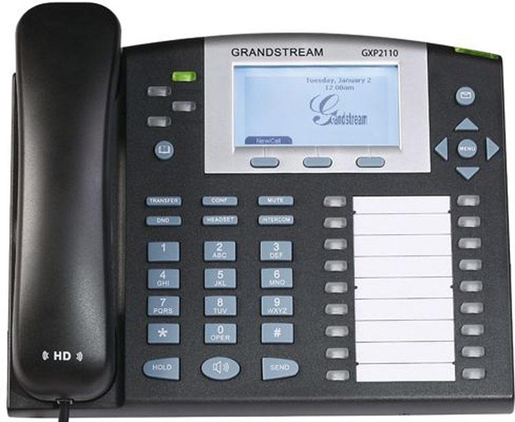 نمای روبرو Grandstream GXP2110 ip phone