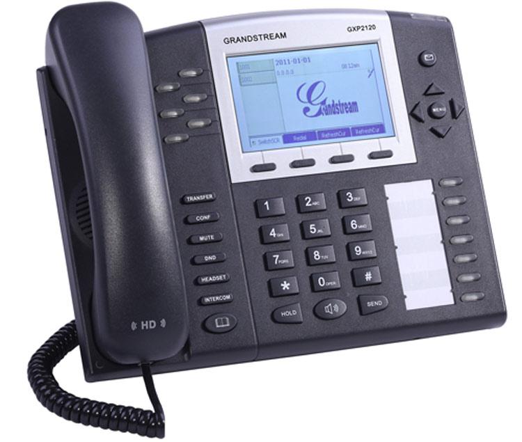نمای سمت چپ Grandstream GXP2120 ip phone