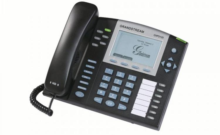 نمای بغل سمت چپ Grandstream GXP2120 ip phone
