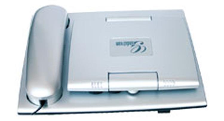 نمای روبرو به صورت بسته Grandstream GXV3000 Video IP Phone