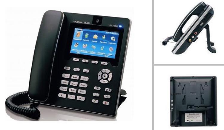 نمای روبرو و پشت و بغل Grandstream GXV3140 Video IP Phone