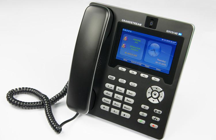 تصویر بغل سمت چپ Grandstream GXV3140 Video IP Phone
