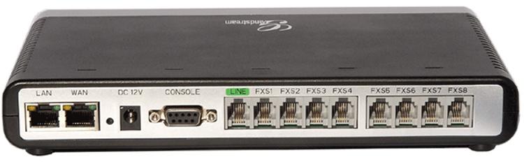 تصویر پشت Grandstream GXW4008 Gateway