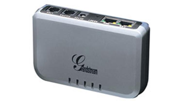 نمای روبرو بالا Grandstream HT503 VoIP Adapter