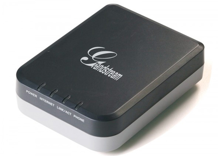 نمای بالا پشت Grandstream HT701 Voip Adapter 2