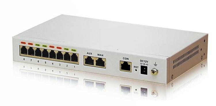 تصویر پشت از بغل Newrock MX8A-4S Gateway