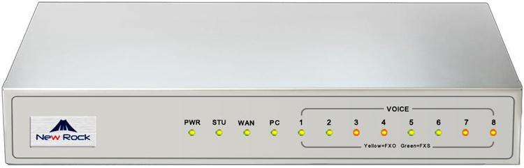 تصویر جلو چراغ ها Newrock MX8A-8FXO Gateway