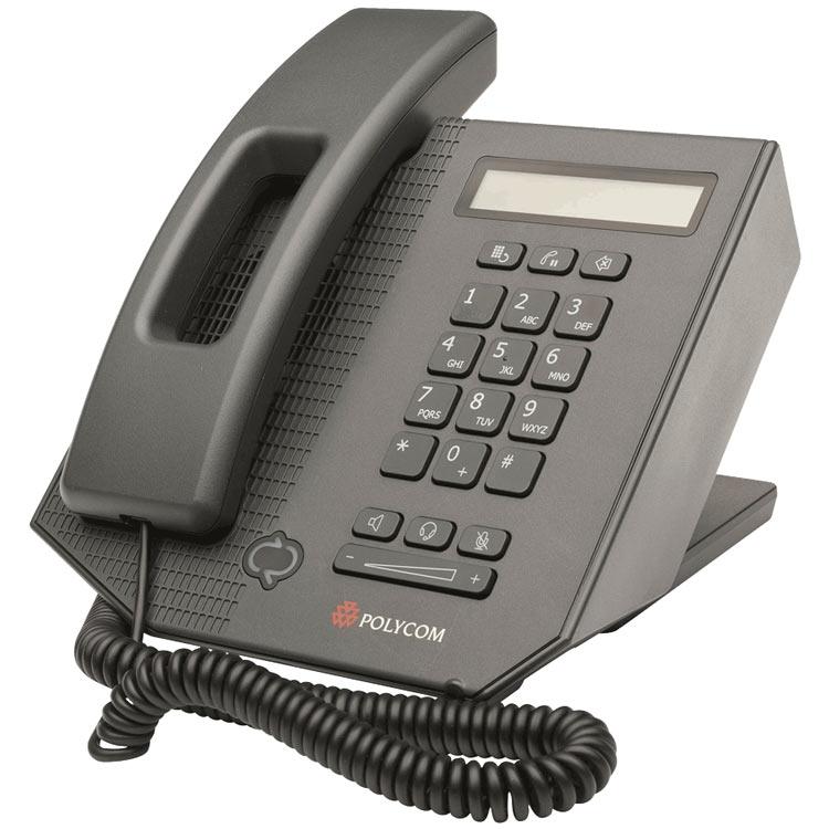 نمای روبرو سمت چپ Polycom CX300 Desktop phone