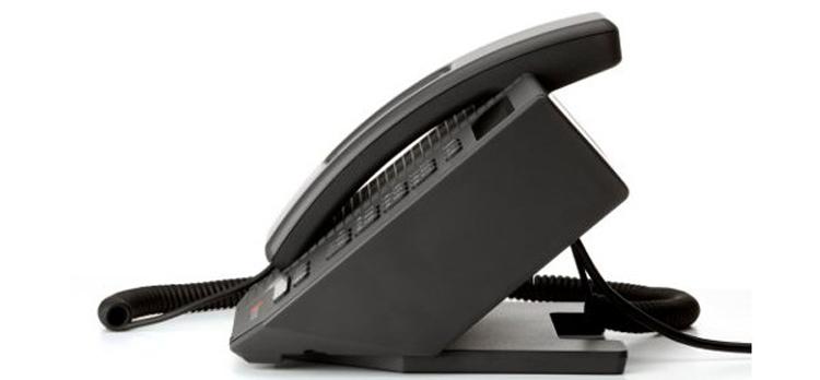نمای جانبی Polycom CX300 Desktop phone