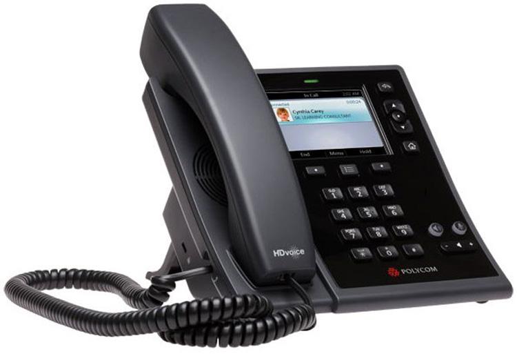 نمای جانبی Polycom CX500 IP Phone