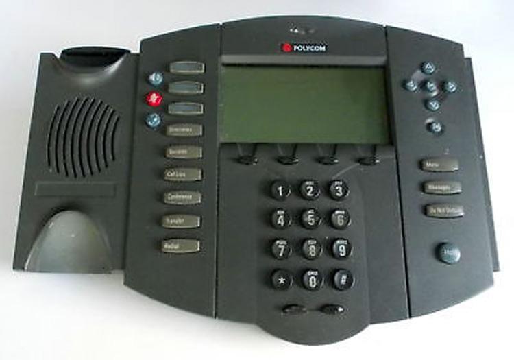 نمای روبرو بدون گوشی Polycom SoundPoint 501