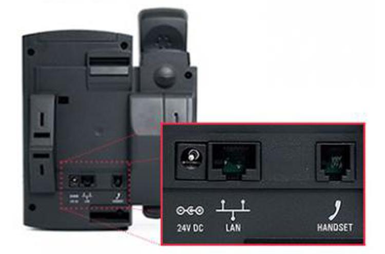 تصویر پشت پورت ها Polycom SoundPoint IP 321