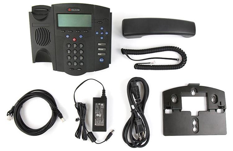 به همراه قطعات متصل شونده و سیم ها Polycom SoundPoint IP 430