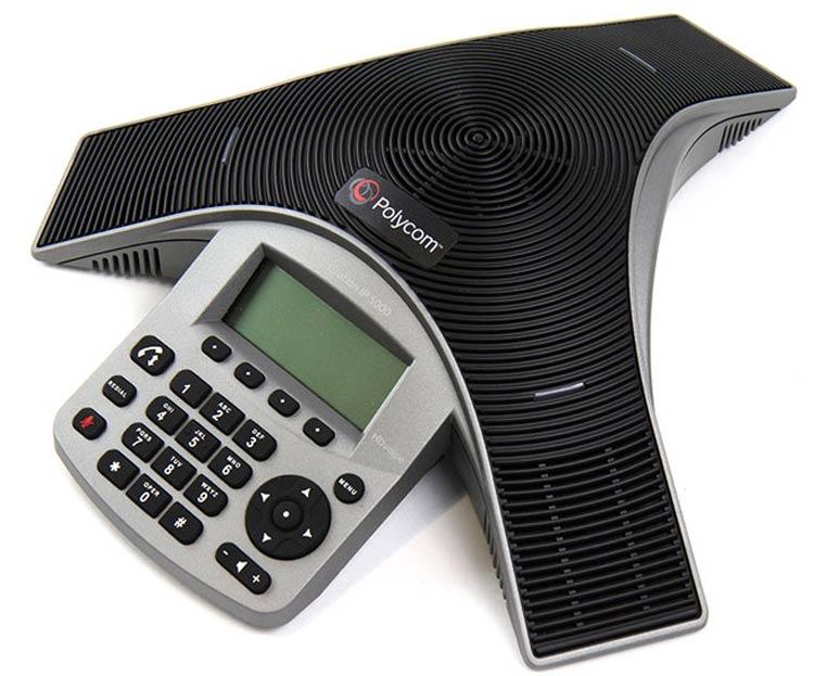 نمای جانبی سمت جپ Polycom SoundPoint IP 5000
