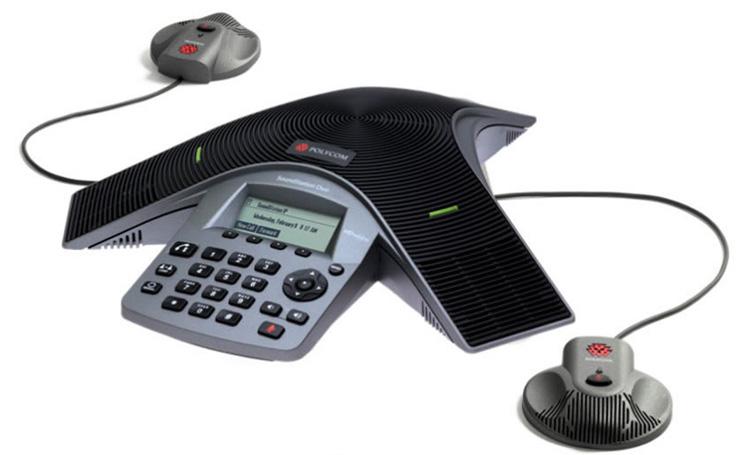 نمای جانبی همراه با بلندگو اضافه Polycom SoundPoint IP 5000