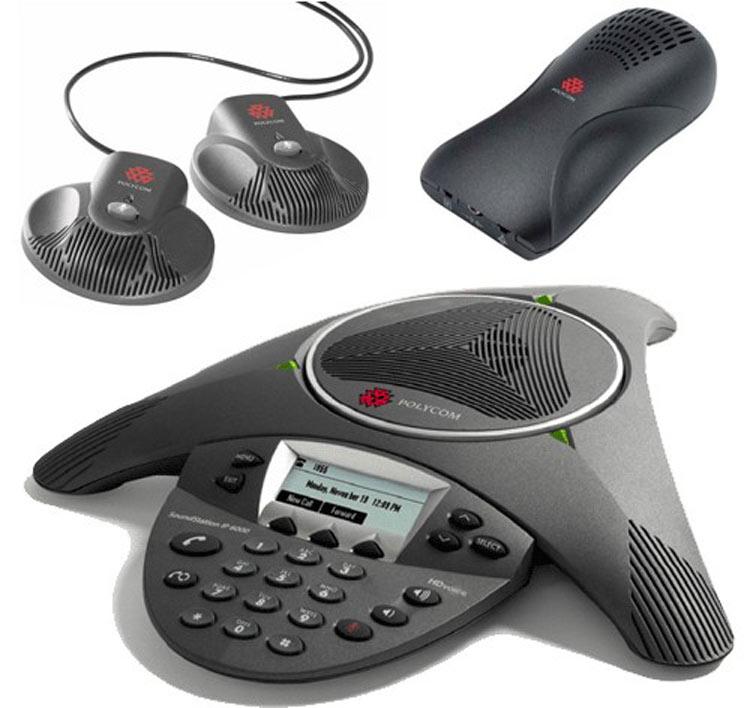 تصویر بغل سمت چپ همراه با بلندگو  Polycom SoundPoint IP 6000