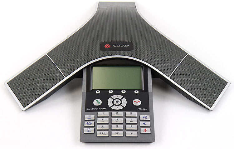 نمای روبرو Polycom SoundPoint IP 7000