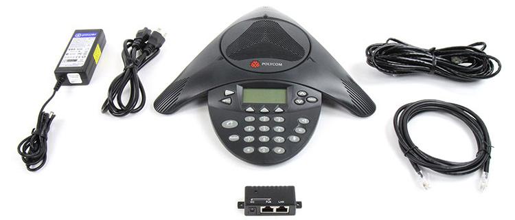 به همراه سیم های اتصال و سیم شارژر Polycom SoundStation IP 4000