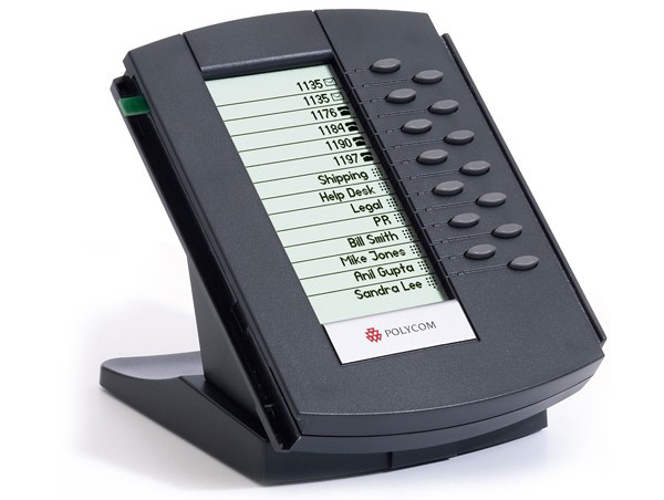 نمای جانبی Polycom Soundpoint IP Backlit Expansion Module