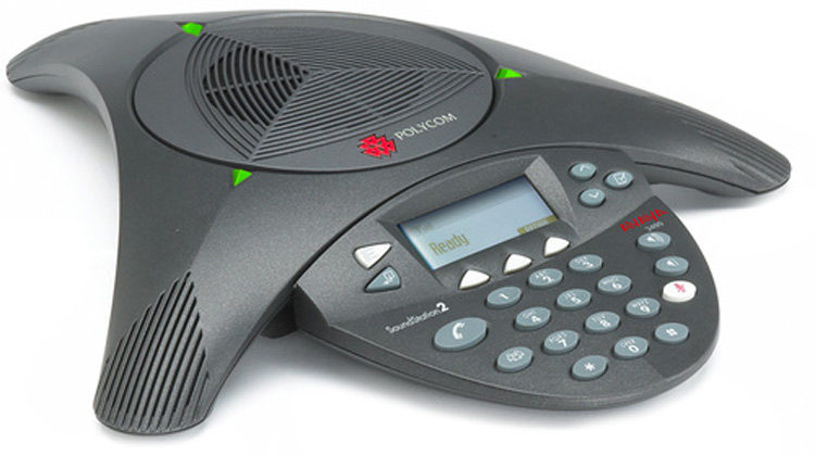 نمای بغل Polycom Soundstation 2 conference phone