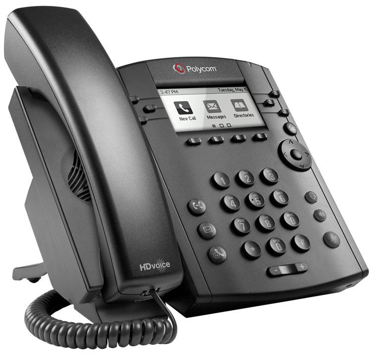 تصویر جانبی Polycom VVX 300 IP Phone