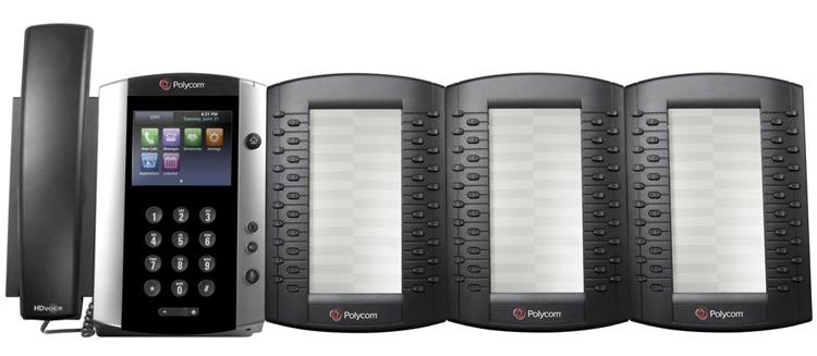همراه با ماژول های گسترش Polycom VVX 500 IP Phone