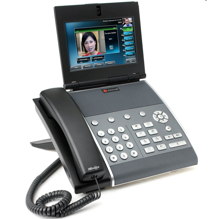 نمای سمت راست Polycom VVX1500 Video IP Phone