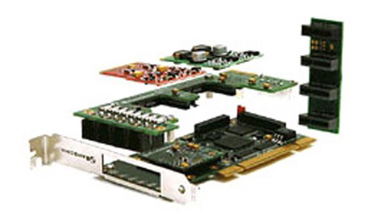 همراه با قطعات متصل شونده Sangoma A200RA Analog PCI Card