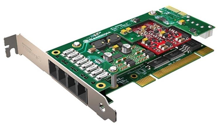 تصویر کامل شده Sangoma A200RA Analog PCI Card