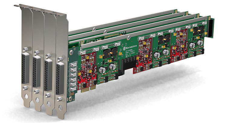 نمای کلی و کامل 3 عدد Sangoma A400RA Analog PCI Card