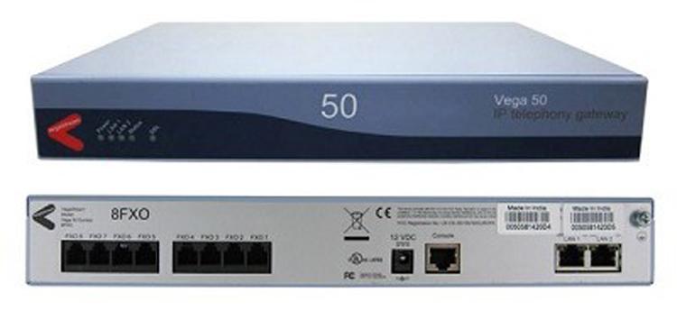 تصویر روبرو و پشتSangoma Vega 50 2FXO 8FXS Gateway 2